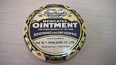 Vintage RAWLEIGH'S 5oz Ointment Tin with Contents – Advertising, Medical