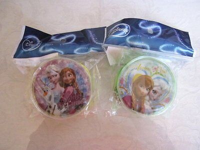 NEW! Disney Princess Frozen ANNA & ELSA 2pc Sisters Round Coin Purse Set