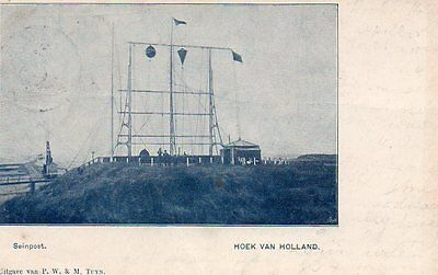 Postcard Of Signal Station Hook Of Holland Around 1900
