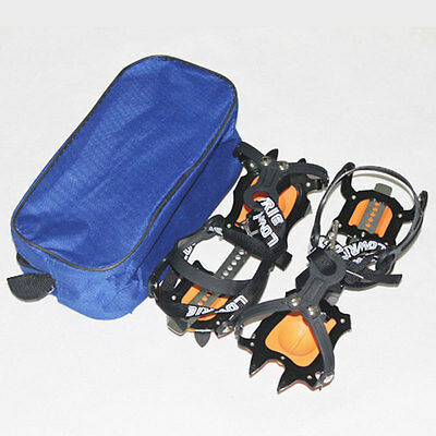 1 Pair Snow Ice Climbing Spikes Crampon Adjustable 10-Teeth Shoes Cover