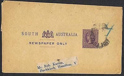 Postal Stationery: 1890's ½d violet wrapper to Hochkirch Vic TS178