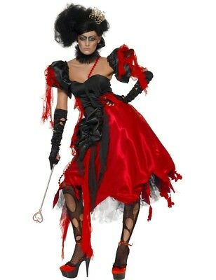 Queen Of Hearts Halloween Costume Alice In Wonderland Fancy Dress Outfit Small