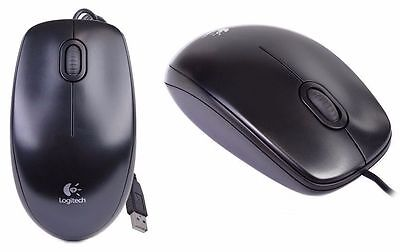 Brand NEW--Logitech B100 3-Button USB Wired Optical Scroll Mouse (BLACK)