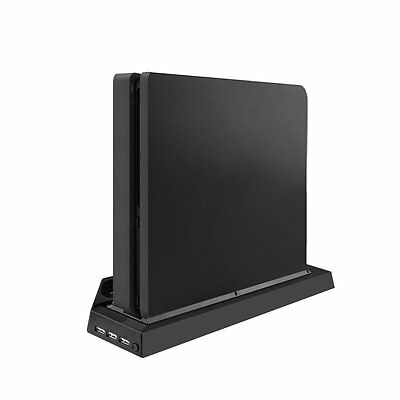PS4 & PS4 Slim Vertical Stand Mount Holder Dual USB HUB Charger Ports Fan