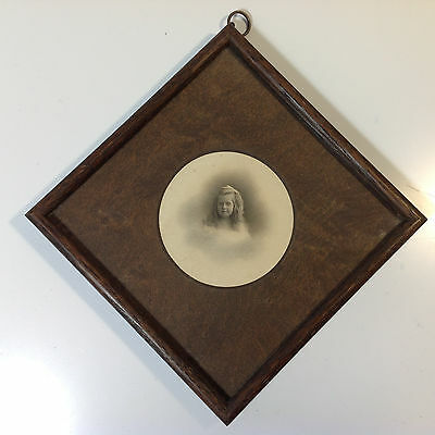 Antique Photo of Young Girl in Original Frame