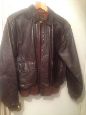 Eastman A2 Airmens Aviation Flight Jacket Size 42