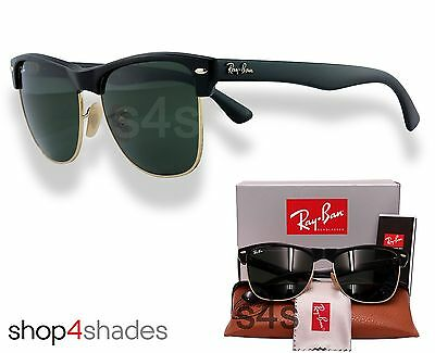 Ray Ban Oversize Clubmaster Sunglasses BLACK_GOLD_CRYSTAL GREEN 4175 877 57mm