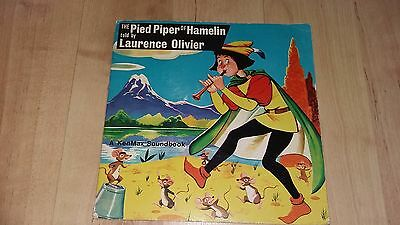 "The Pied Piper of Hamelin told by Laurence Oliver -7"" vinyl -A Kenmax Soundbook"