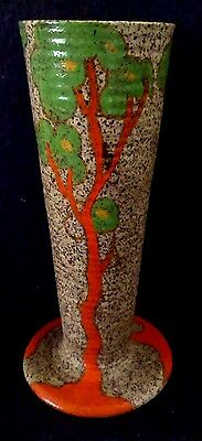 "Clarice Cliff  ""Green Tree"" Vase"