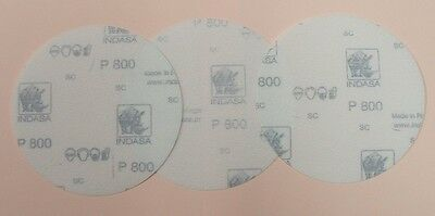 Set Of 3 Discs Film Abrasive Special Plexiglass Polycarbonate P800 Diam 75