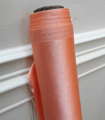 Gorgeous Vintage Retro 1950s Roll of Shimmery Coral - Pink  Orange Fabric 4m