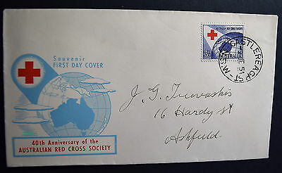 1954 3.5d Red Cross - Predecimal First Day Cover