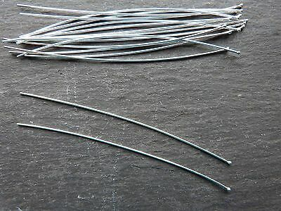 Bali sterling silver ~ long head pins with small ball end ~ 75mm ~ 1 pair