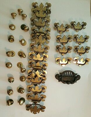 Lot of 39 Vintages style drawer Gabinet Dresser pull handles knobs