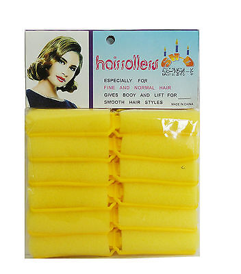 Professional Salon Quality Sponge Hair Rollers - Small Size - 12 Rollers