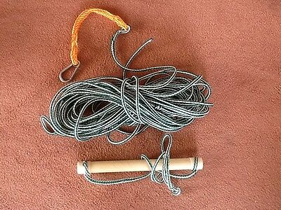 Ski Tow Rope (Old Style) & Handle Approx 75ft Long