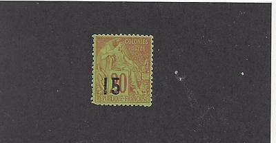 """Senegal #22   Mh  """"french Colonies (Commerce)   With Black Overprint"""""""