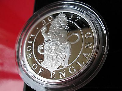 Mint Condition The Lion of England 2017 UK One Ounce Silver Proof Coin COA 0073