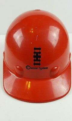 Chessie system superlectric railroad red hard hat saftey train