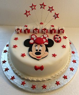 Minnie Mouse Cake Topper - Sugar cake decoration Topper- Birthday - Christening