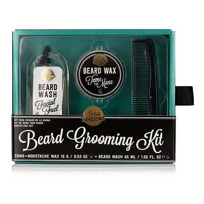 Hello Handsome Beard Grooming Kit NPW Mens Moustache Facial Groom OFFICIAL GIFT
