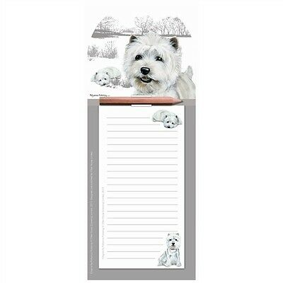 Westie Magnetic Memo Pad - By Pollyanna Pickering