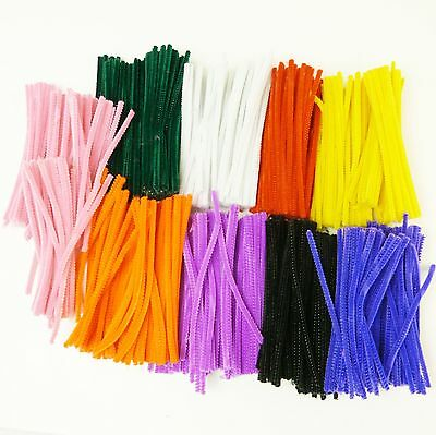 Chenille Stems (Pack of 900) - 9 Colours, 15cm. Pipe Cleaners, Arts & Crafts