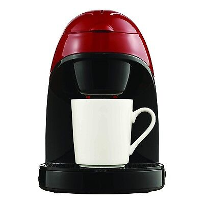 Brentwood TS-112R Red Single 1 Cup Coffee Maker