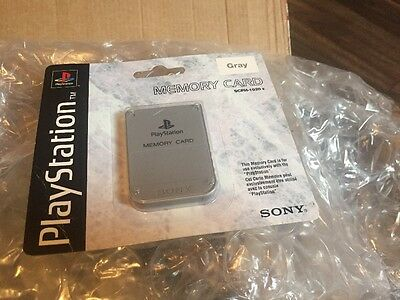 Official Memory Card Ps1 Sealed New Playstation 1