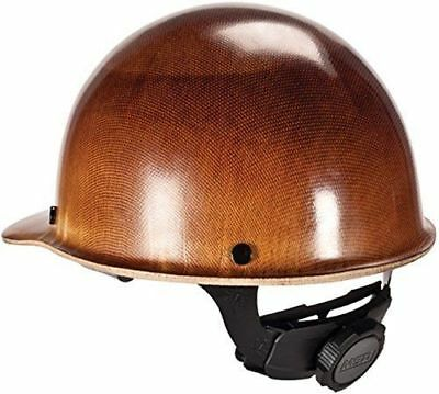 Ironworkers Natural Tan Skullgard Cap Style Hard Hat w/ Fas-Trac III Suspension