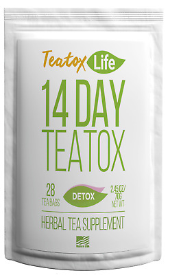 14/28 Day Skinny Detox Tea Am&pm Teatox Flat Stomach Metabolism Burn Fat 28 Bags