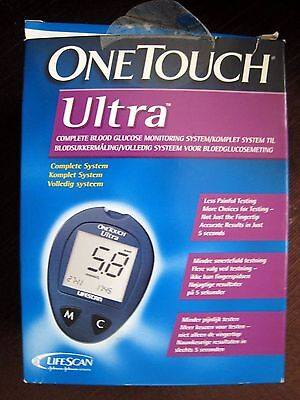 One Touch Ultra Blood Glucose Monitor Set Inc Carry Case Boxed Used