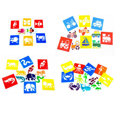 Assorted washable plastic Stencils  (24) - Animal, Jungle, Transport, Sealife