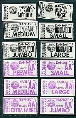 29 Different MNH State of Kansas Egg Inspection Stamps (Lot #rn180)