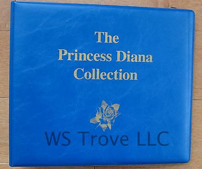 Princess Diana Collection 1997 Mystic Postage Stamps & Book & 7 Stamp Sheetlets