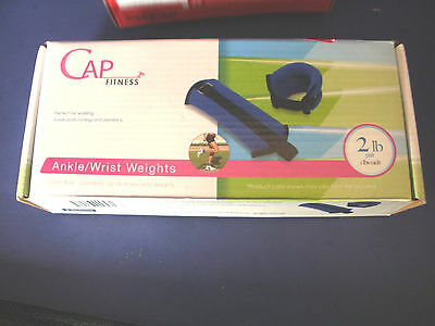 CAP FITNESS~2 Lb ANKLE / WRISTS WEIGHTS~NIB