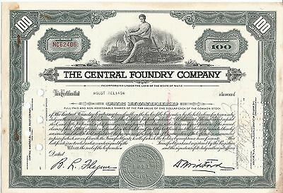Us - Stock Certificate  Shares - Central Foundry  Company -   Lot ( World 12)