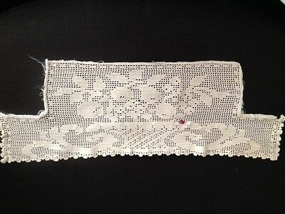 Antique Lace Crochet Bodice Cami Cover Ivory Cotton