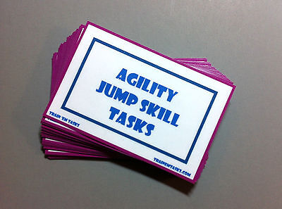 Dog Agility Training Jump Skills Task Cards by Train 'Em Tasks - 29 Task Cards