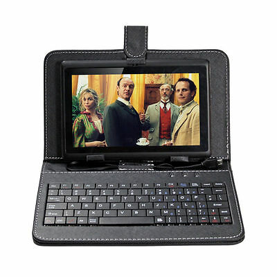 8GB Black 7 inch Android A33 4 Core Tablet PC Laptop Kids Children Keyboard Case
