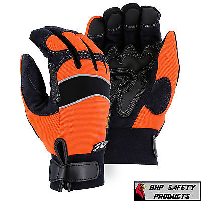 Majestic Insulated Waterproof Windproof Armorskin Mechanics Gloves Size Large
