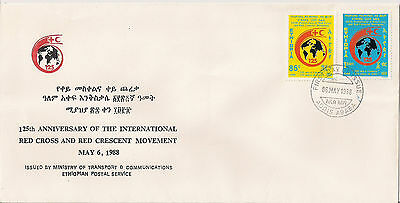 Ethiopia: 1988: 125th Anniv of the Int. Red Cross and Red Crescent Movement  FDC
