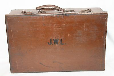 True Vintage 1930's-1940's Little Wooden Travelling Sales Brown Case,War Weekend
