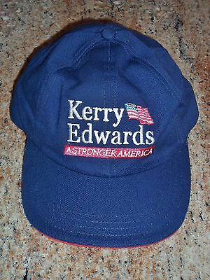 Kerry/Edwards Embroidered Ball Cap ( 2004 Presidential Primary ) in NM Condition