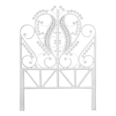 King Single Peacock Bed Head White