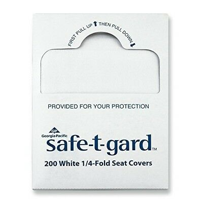 "Georgia-Pacific Safe-T-Gard 47047 White 1/4-Fold Toilet Seatcovers, 14.5"" Width"