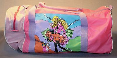 Vintage 1989 Barbie Girl Sleeping Bag In Original Travel Bag ! Rare Hard To Find