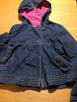 Girls Debenhams Designers Blue Denim Jacket With Hooded Age 9/10