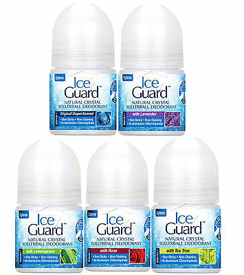 Optima Ice Guard Natural Crystal Deodorant Rollerball 50ml - 5 Varieties