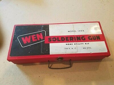 Vintage Wen Soldering Gun Model 199K Complete - With Case Original Papers Usa